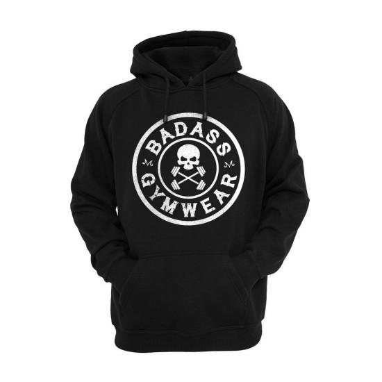 Emblem hoodie black