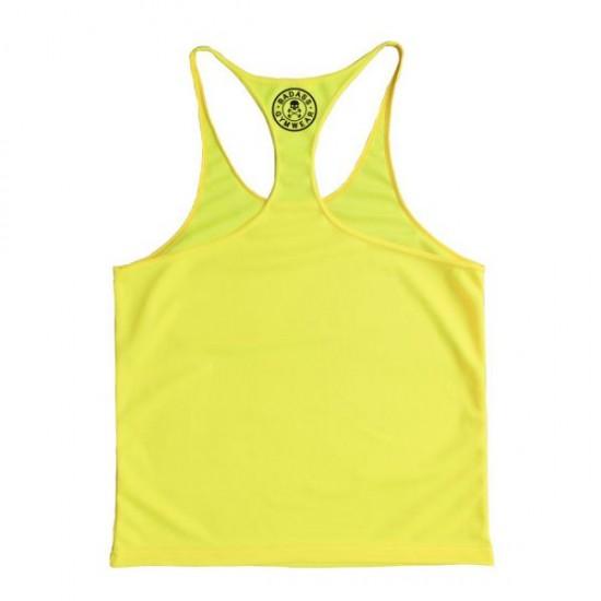 Badass Gymwear Emblem stringer (Polyester yellow)