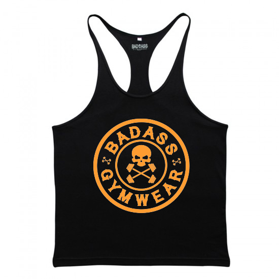 Badass Gymwear Emblem Stringer (black orange)
