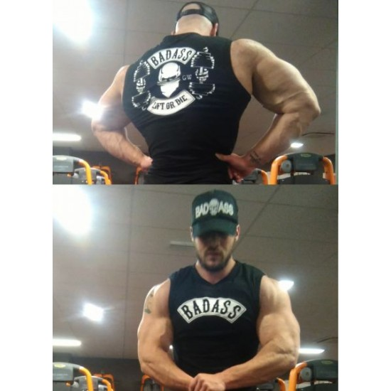 Badass Lift or die (Sleeveless stretch shirt)